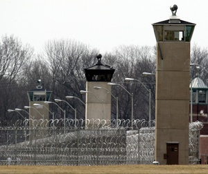 Guard towers and razor wire ring the compound at the U.S. Penitentiary in Terre Haute, Indiana.