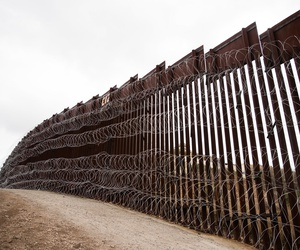 A section of the border wall in Arizona is shown in February.