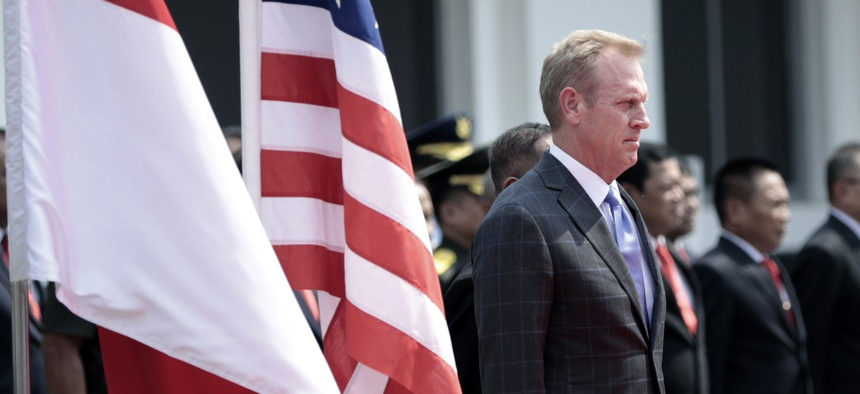 Acting U.S. Secretary of Defense Patrick Shanahan in Jakarta, Indonesia, May 30, 2019.