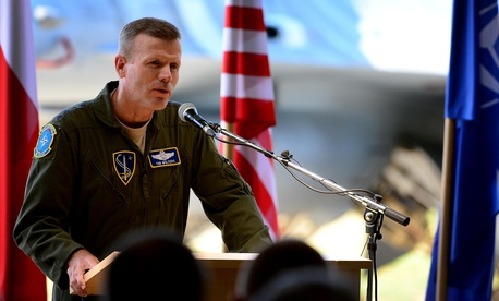 A 2017 photo of U.S. Air Force Gen. Tod D. Wolters, who was then commander of NATO Allied Air Command and U.S. Air Forces in Europe.