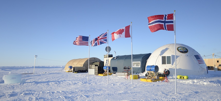 Ice Camp Sargo in the Arctic Circle served as the main stage for Ice Exercise (ICEX) 2016; it housed more than 200 participants from four nations over the course of the exercise.