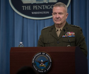 "The new head of U.S. forces in the Middle East, General Kenneth McKenzie, told some 6,000 U.S. personnel in the Arabian Gulf, ""I am the reason you're here."""