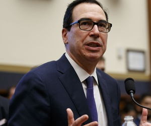 Treasury Secretary Steven Mnuchin told reporters he offered the one-year CR and took sequester off the table.