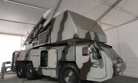 Iran said it used its Third-of-Khordad air-defense system, seen here in a 2014 phoot released by the Iranian government, to down a drone on June 20.
