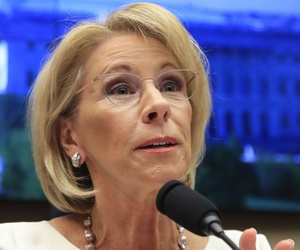 Education Secretary Betsy DeVos is named in the lawsuit.
