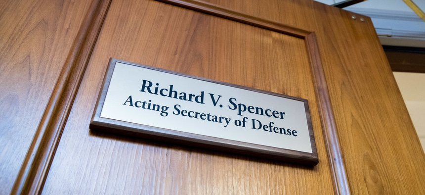 The defense secretary's office at the Pentagon.