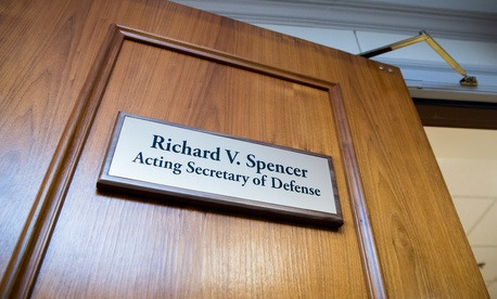 The defense secretary's office at the Pentagon.