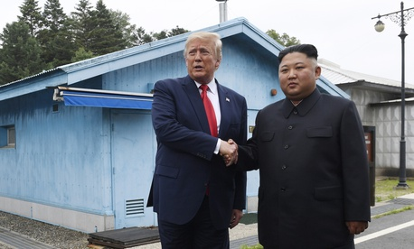 On June 30, 2019, U.S. President Donald Trump met with North Korean leader Kim Jong Un in the Demilitarized Zone, South Korea. On July 16, DPRK officials say they are rethinking whether to abide by their moratorium on nuclear and missile tests.