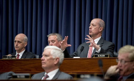 Ranking Member Mac Thornberry, D-Texas, speaks at a House Armed Services Committee budget hearing for the Departments of the Army and Air Force in Washington, D.C., on April 2, 2019.