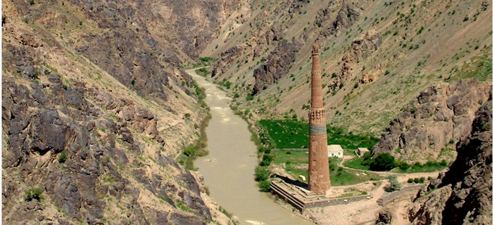 Minaret of Jam, Afghanistan, in 2005