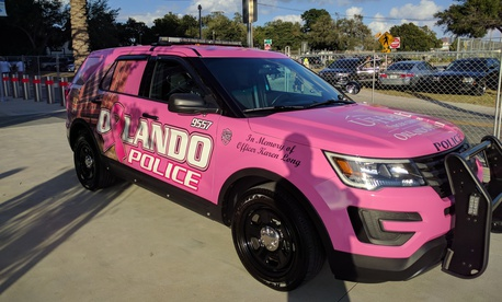 An Orlando Police Department patrol car