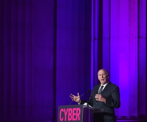 Director of National Intelligence Dan Coats speaks at the DC CyberTalks conference, Thursday, Oct. 18, 2018, in Washington.