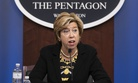 Undersecretary of Defense for Acquisition and Sustainment Ellen M. Lord holds a press briefing on Aug. 26.