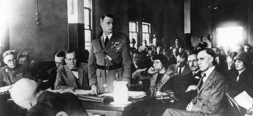 """Gen. William """"Billy"""" Mitchell's court-martial in 1925."""