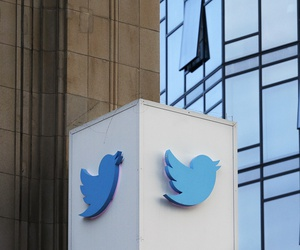 This Oct. 26, 2016 file photo shows a Twitter sign outside of the company's headquarters in San Francisco. Some political die-hards are getting caught up in an expanded effort by Twitter and other social media companies to crack down on nefarious tactics