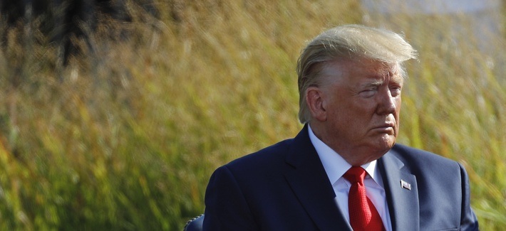 President Donald Trump attends a ceremony in observance of the 18th anniversary of the September 11th attacks at the Pentagon in Washington, Wednesday, Sept. 11, 2019.