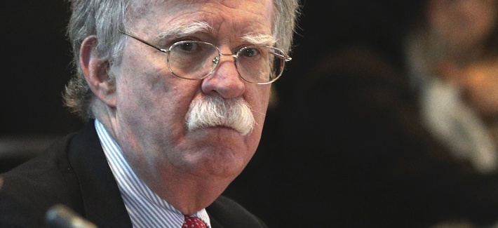 U.S. National security adviser John Bolton, attends a conference of more than 50 nations that largely support Venezuelan opposition leader Juan Guaido in Lima, Peru, Tuesday, Aug. 6, 2019.