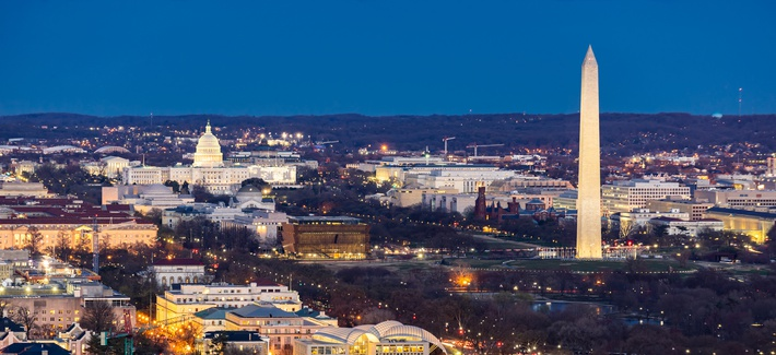Washington, DC, at dusk
