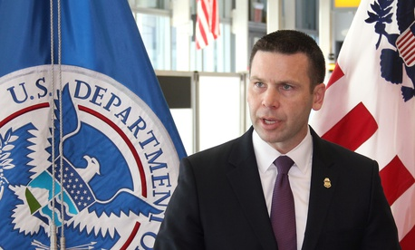 Kevin K. McAleenan, who is now acting secretary of the Department of Homeland Security, speaks in New York City in 2018.