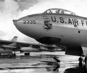 B-47 Stratojets on the ramp in the 1950s.