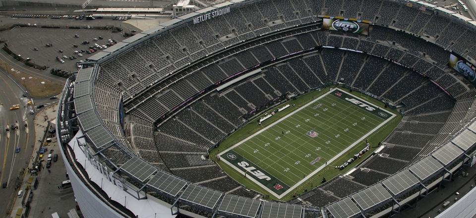 MetLife Stadium is shown in this Dec. 1, 2013 aerial photo in East Rutherford, N.J.