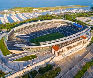 Chicago's Soldier Field is shown in 2017.