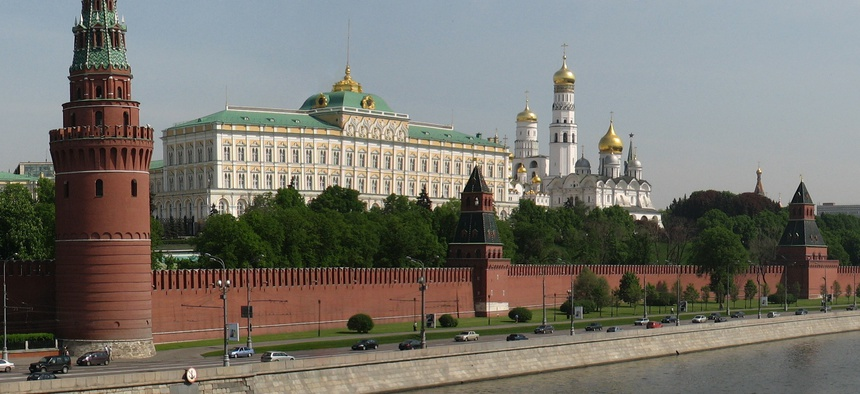 Kremlin wall and towers, Moscow