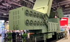 Raytheon's Lower Tier Air and Missile Defense Sensor mock-up on display at the 2019 AUSA conference.