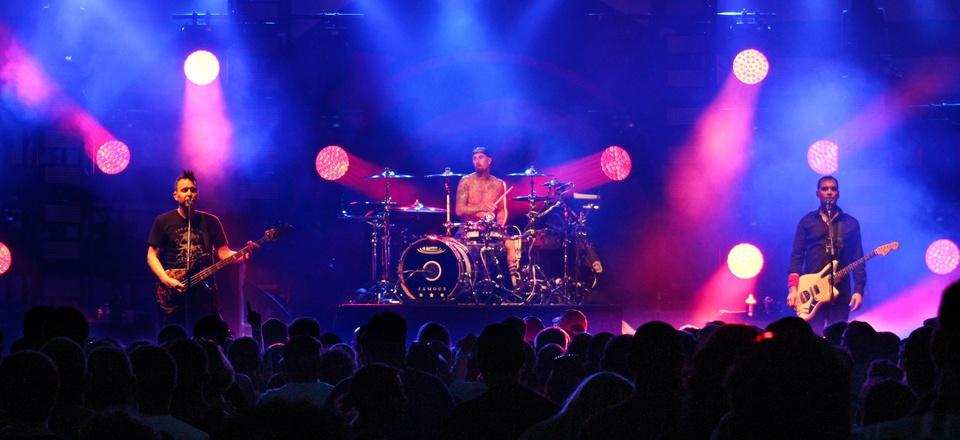 Blink-182 plays a 2016 concert.