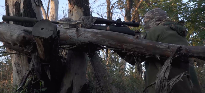 A screenshot from the Ukrainian-language documentary Invisible Battalion, released in 2019.