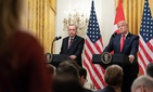 President Donald Trump in a joint press conference with Turkish President Recep Erdogan Wed., Nov. 13, 2019, in the East Room of the White House.