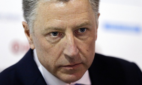 "n this Sept. 18, 2018 file photo U.S. special representative to Ukraine Kurt Volker attends the 15th Yalta European Strategy (YES) annual meeting entitled ""The next generation of everything"" at the Mystetsky Arsenal Art Center in Kiev, Ukraine."