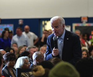 Presidential hopeful Joe Biden at a Community Event at Matt Kelly Elementary School in Historic Westside of Las Vegas, Nevada on November 16, 2019