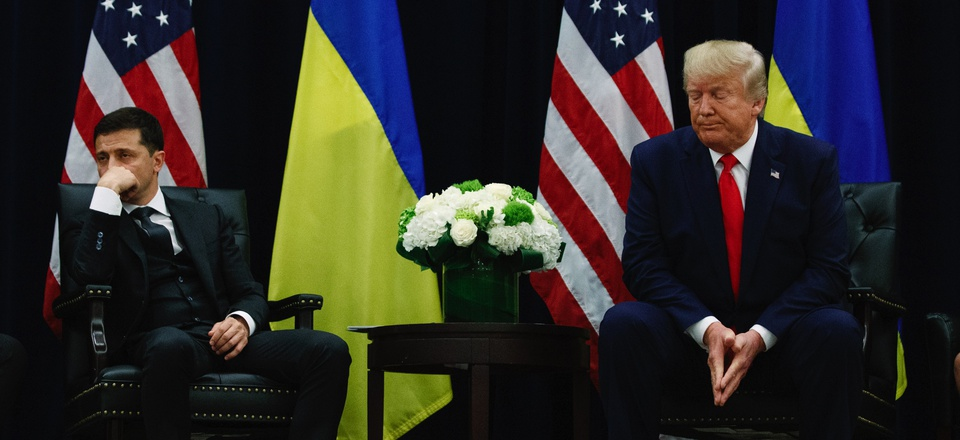 President Donald Trump meets with Ukrainian President Volodymyr Zelenskiy at the InterContinental Barclay New York hotel during the United Nations General Assembly, Wednesday, Sept. 25, 2019, in New York.President Donald Trump meets with Ukrainian Preside
