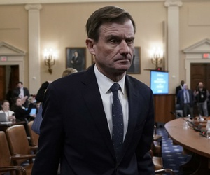 State Department Undersecretary for Political Affairs David Hale leaves after testifying before the House Intelligence Committee on Wednesday.