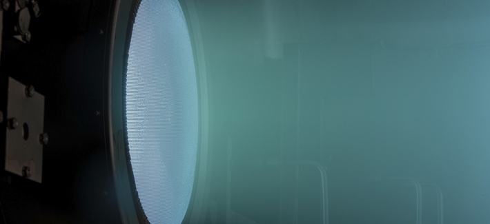 NASA's Evolutionary Xenon Thruster (NEXT) - 7 kilowatt ion thruster, tested for more than 48,000 hours of operation in vacuum chamber.