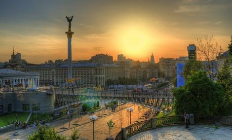 Downtown Kyiv, Ukraine