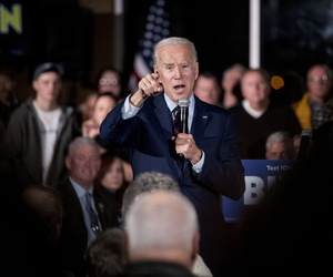 Democratic presidential candidate, former Vice President Joe Biden speaks at a campaign rally at Modern Woodmen Park, Sunday, Jan. 5, 2020, in Davenport, Iowa.