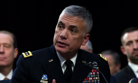 In this Jan. 29, 2019, photo, National Security Agency director and head of U.S. Cyber Command Gen. Paul Nakasone testifies before the Senate Intelligence Committee on Capitol Hill in Washington.