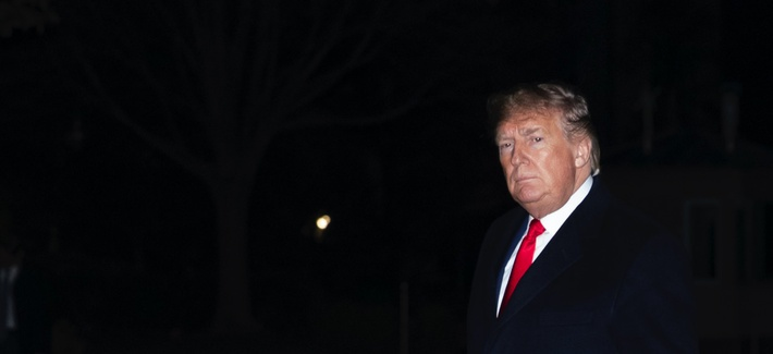 President Donald Trump walks on the South Lawn after stepping off Marine One at the White House, Thursday, Jan. 9, 2020, in Washington.