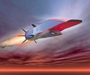 n Air Force illustration shows the X-51A Waverider, which is designed to ride on its own shock wave and accelerate to Mach 5 or higher. (AFP Photo/Air Force)