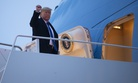 President Donald Trump boards Air Force One for a trip to Milwaukee to attend a campaign rally, Tuesday, Jan. 14, 2020, in Andrews Air Force Base, Md.