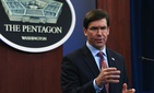 Defense Secretary Mark Esper speaks during a news conference at the Pentagon in Washington, Friday, Dec. 20, 2019.