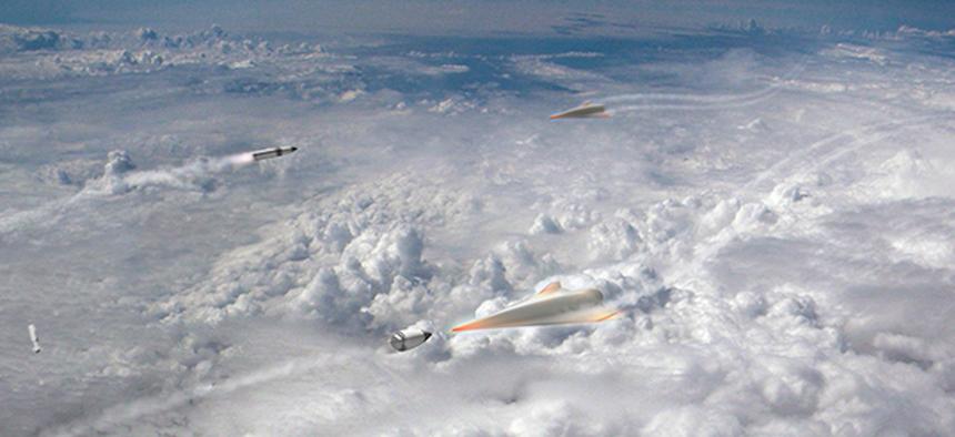 An illustration of the Glide Breaker program from DARPA