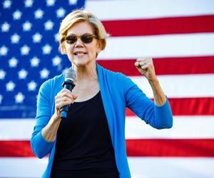 Elizabeth Warren campaigns in New Hampshire in September.