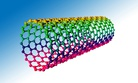 An artist's illustration of a carbon nanotube, which is several times stronger than steal but one sixth the weight.