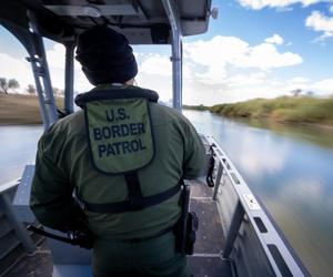 Yuma Sector Border Patrol Agents patrol the Colorado River near Yuma in 2019.