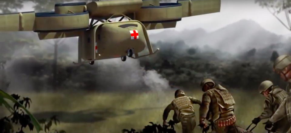 An artist's rendering of the ARES VTOL from Lockheed Martin