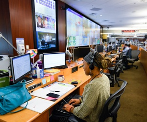 Personnel at the The Centers for Disease Control and Prevention (CDC) work the Emergency Operations Center in response to the 2019 Novel Coronavirus in Atlanta.