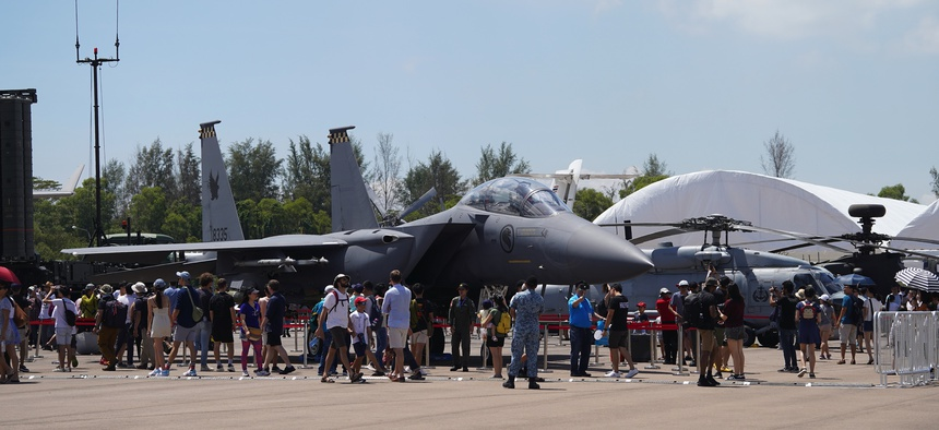 "The 2020 Singapore Air Show was a ""ghost town,"" one defense industry leader said."